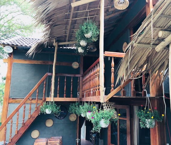 Very charming wooden stilts house