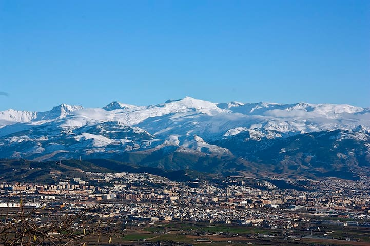 Apto Vega De Granada.Vistas a la piscina y ciudad.