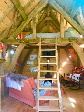 Loft ladder and cosy sitting