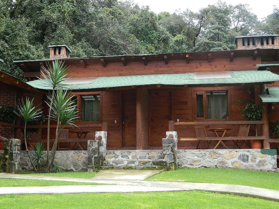 Fachada Cabaña Petite
