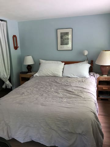 Fourth bedroom has a queen bed and double sofa bed