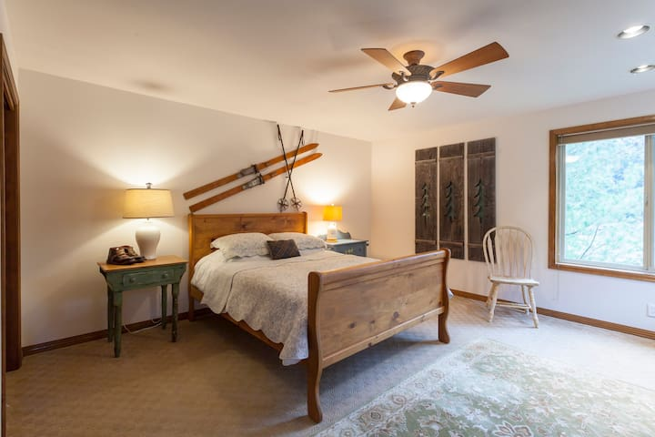 Main room with queen bed