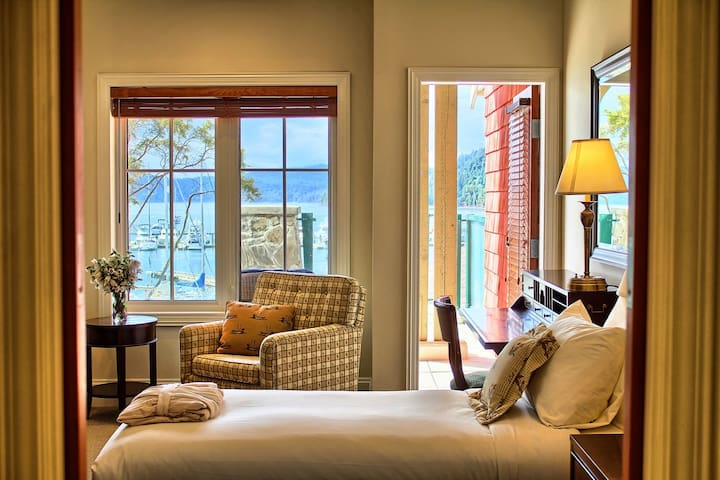 Welcome to your cozy room by the ocean!