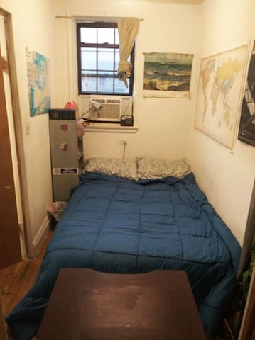 Small Full Sized Bedroom in Historic Manhattan