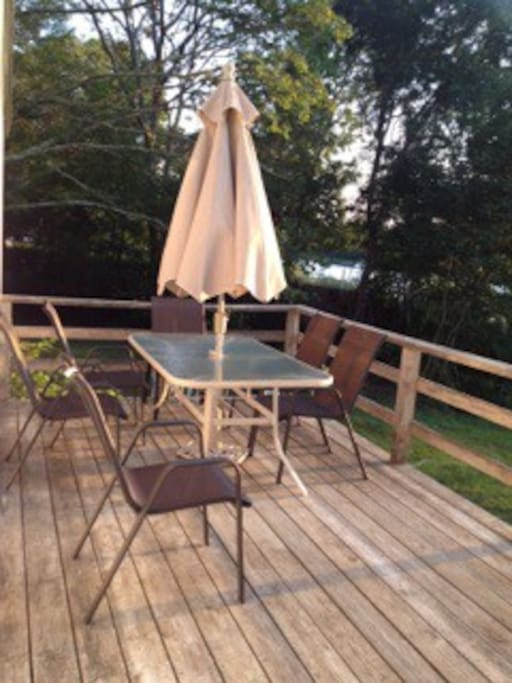 Back Deck seating area