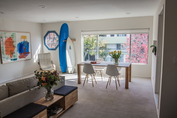 Large, sunny apartment steps from beach