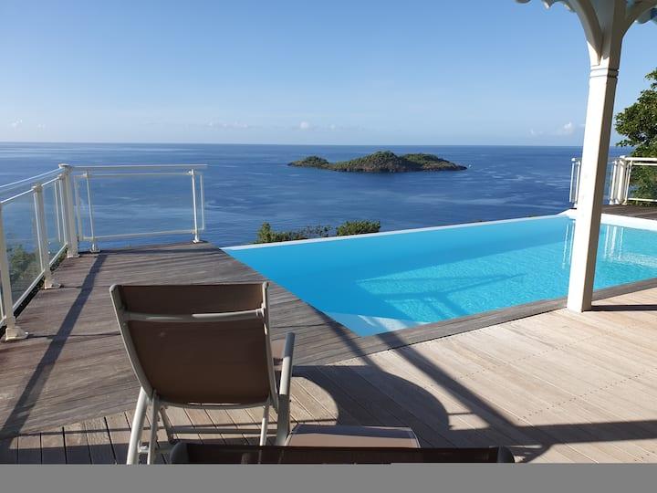 Villa vue imprenable sur la mer des Caraibes