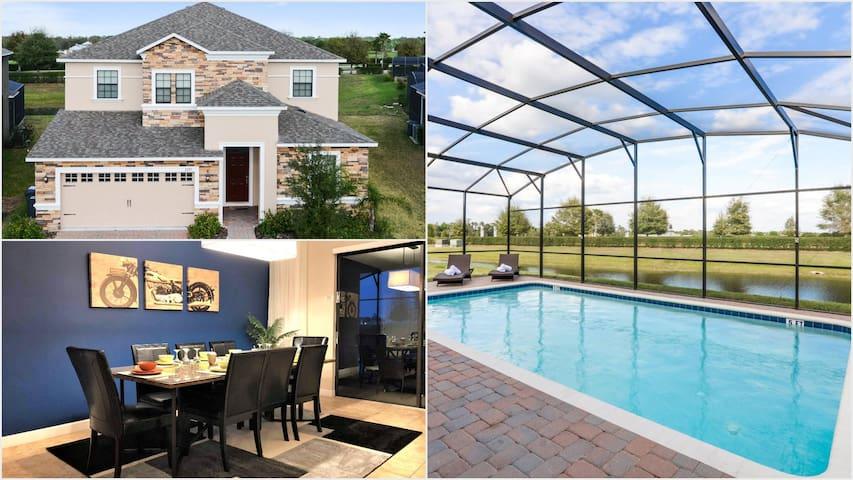 Luxury 7 bedroom pool home on stunning resort