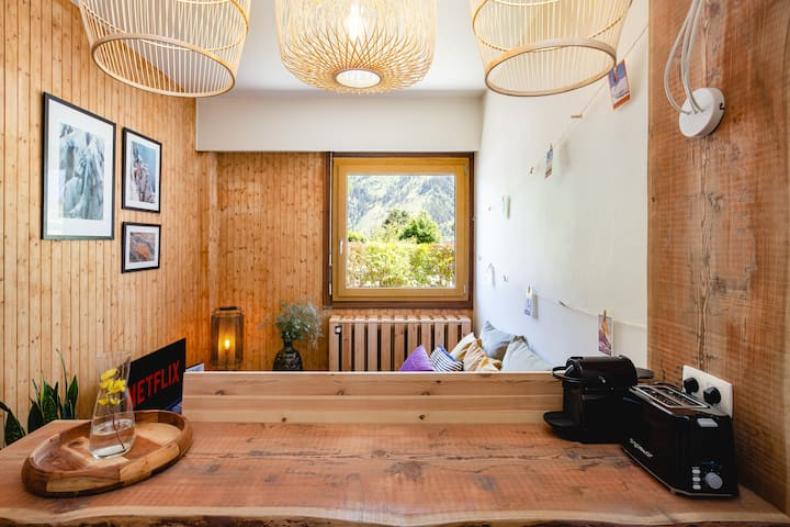 Cosy studio next to Brevent ski lift FREE parking