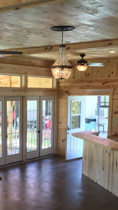The gathering area to feed groups of up to 75 or more ,pavilion may be rented separately for $500.00 per weekend