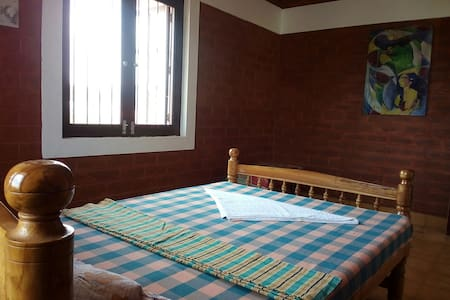 Private room at a Villa near Auroville Bakery