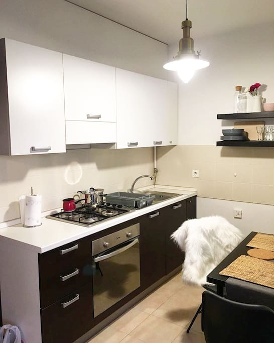 Kitchen with full equipment