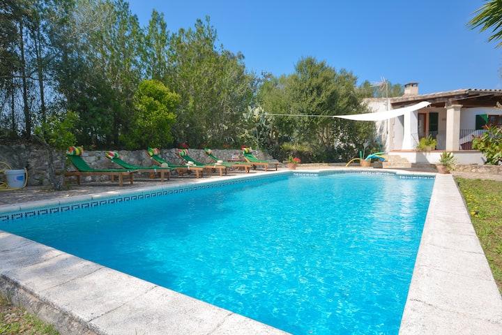 SHORT DHORTELLA - Villa with private pool in SANT JOAN. Free WiFi