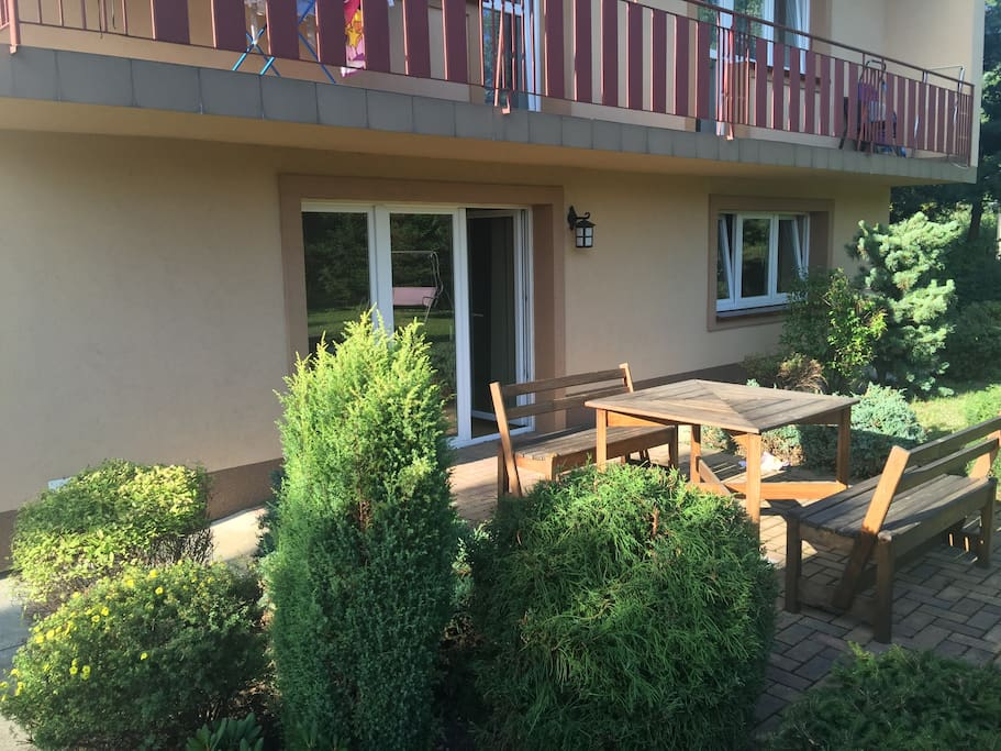 Direct Patio Access from the Flat