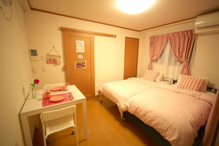 Cleaning¥0!!三宮10min sweet room301wi-fi