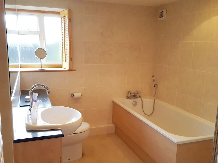 Ensuite Bathroom (bath & double shower)