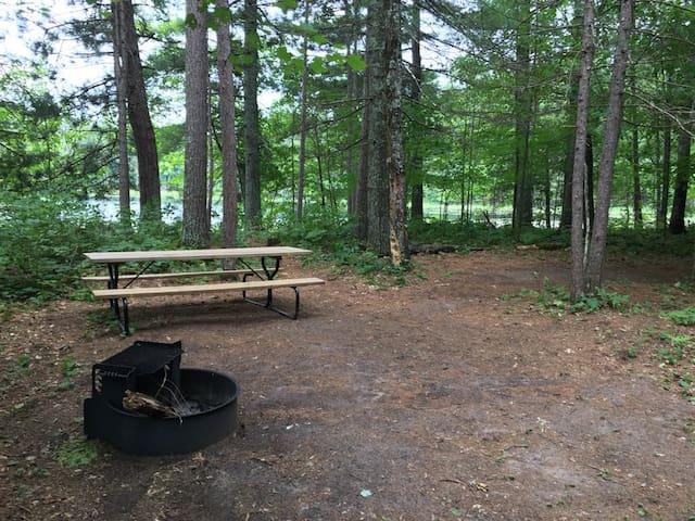 Banach Lake Campsite on Burnett County Forest