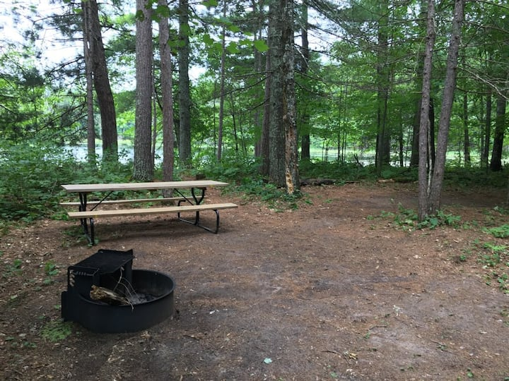 Banach Lake Campsite on Burnett County Forest