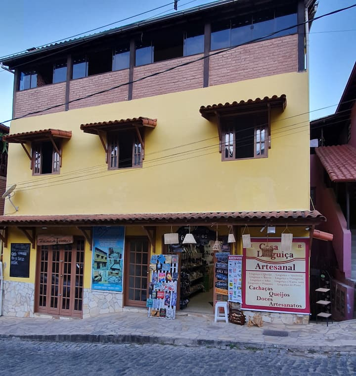 Cobertura no centro de Ibitipoca