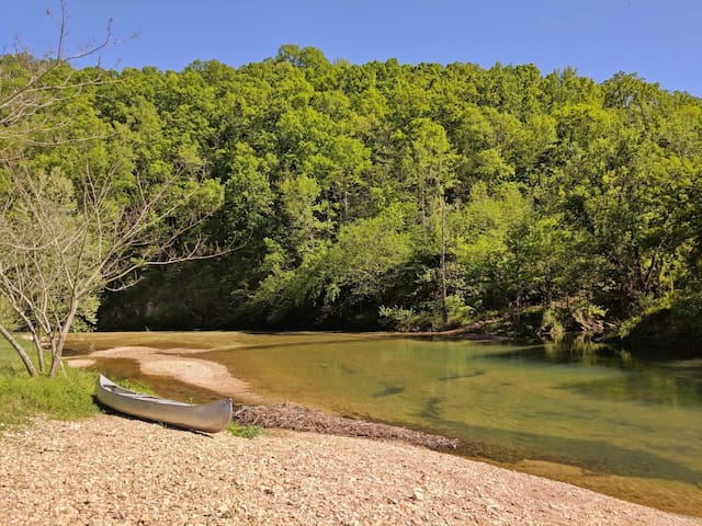Tipi on Sylamore Creek ~ solo campground and community swim hole