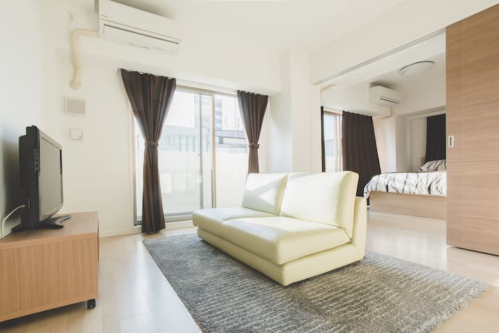OSAKA Airport pick-up & Dotonbori 1min   Premium Apartment   Nihonbashi Station 1 min   2BR