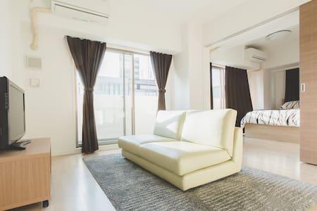 OSAKA機場接送 & Dotonbori 1min高級公寓日本橋車站1分  2BR - 大阪市