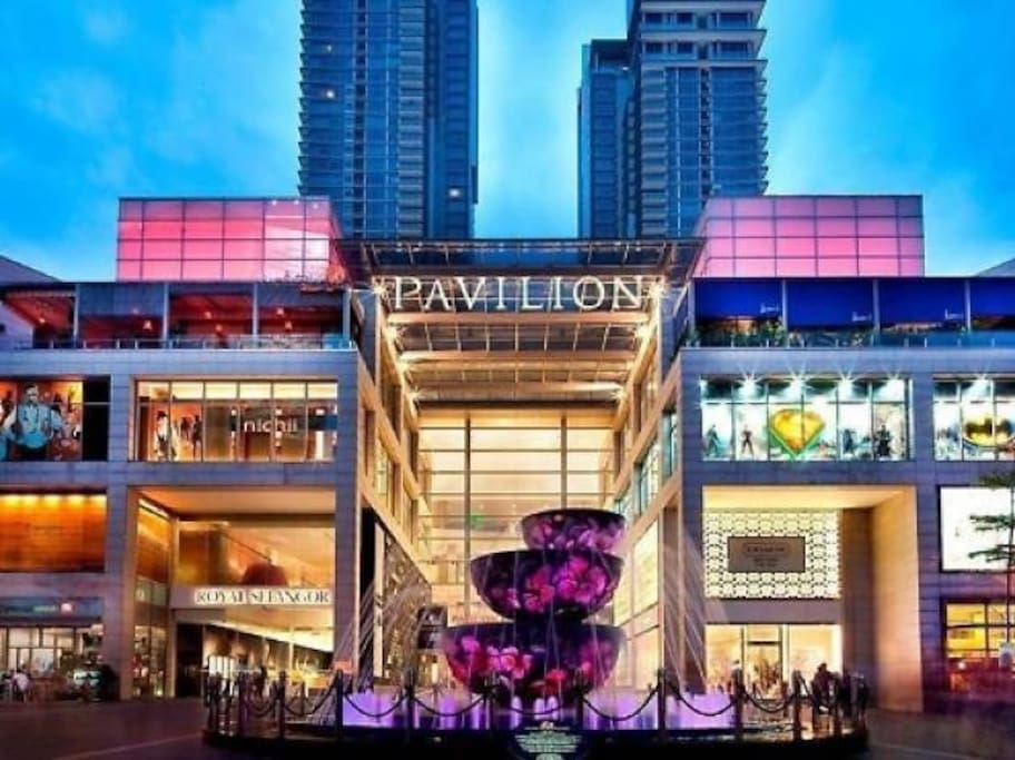 Pavilion Mall is 5 mins walk from our properties