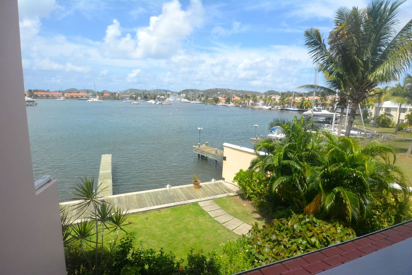 View from water-front lounge balcony