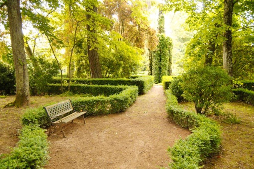 Le parc de 2 hectares