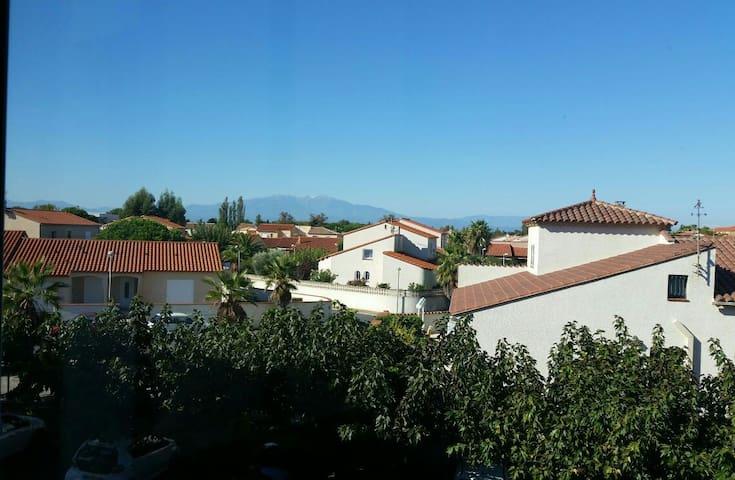 Studio vue sur Canigou 5 mn plage - Saint-Cyprien