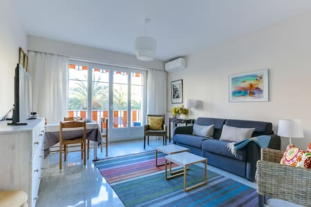 Superb  Sunny Apartment 3 min from Nice Port
