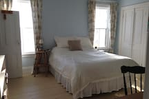 The Master Bedroom is very large with a sitting area and has a full bath.