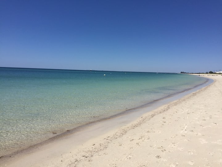 Busselton Beach Side on Blue