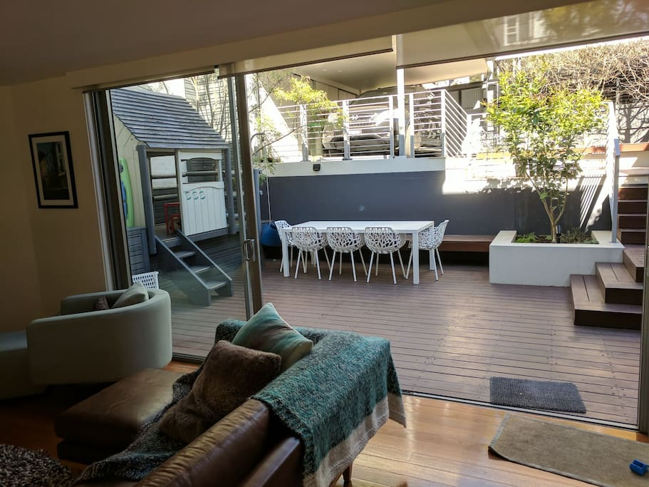 Lounge room opening onto back deck