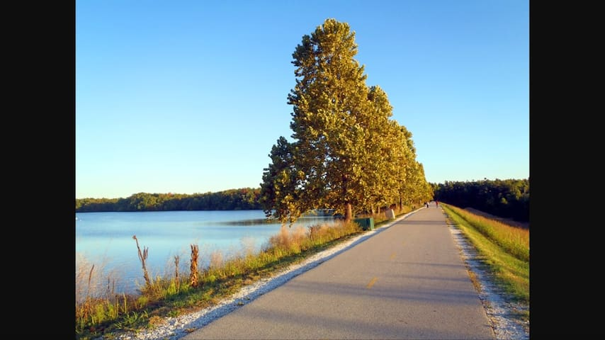 Located near access to the Fayetteville Bike Trail! The NWA trail consists of over 200 miles of soft and hard-surface trails. See the link below for more information on the NWA bike trails. https://www.nwatrails.org/trails/