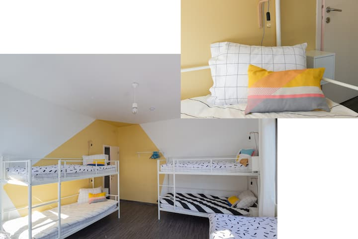 BED in FUNKY COMFY 6-bed FEMALE DORM – bed 3