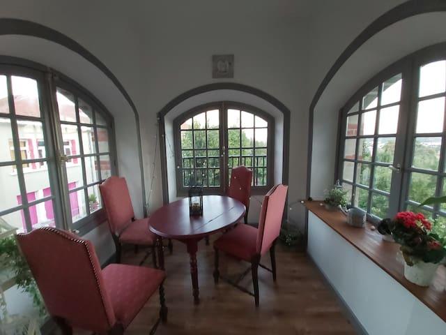 Appartement exclusif 5 prs, bâtisse XIX siècle