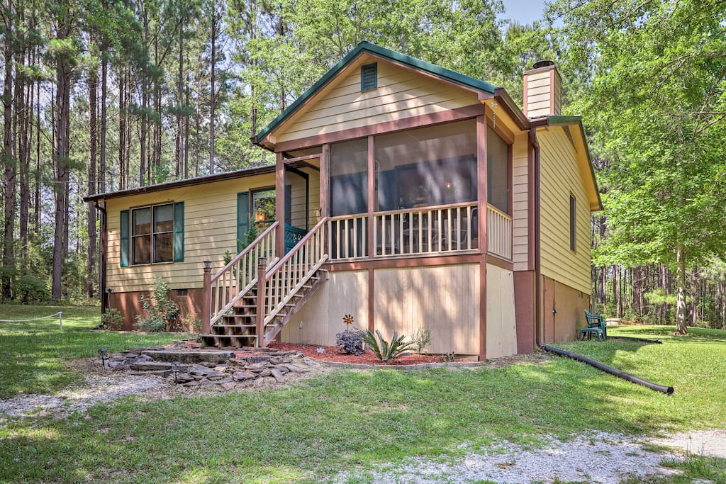 Cozy 2br pine mountain cabin w screened porch chalet in for Cabine in affitto in montagna ga