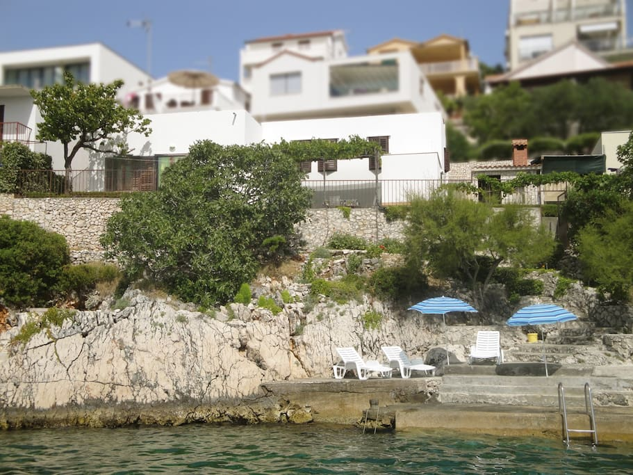 House Adriana - view from the sea