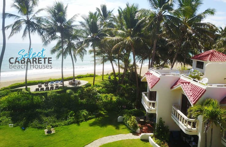 Cabarete Beach-Front-House A8. Nanny Estate.