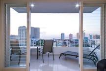 Enjoy the beautiful balcony view