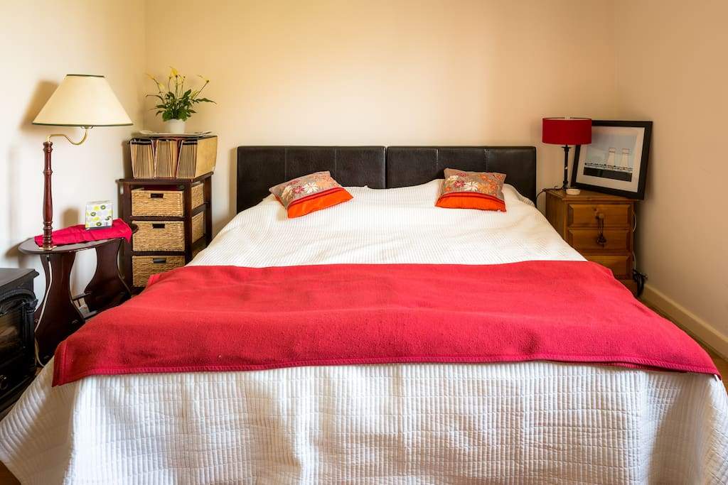 The Master Bedroom with superking size bed layout - comprised from 2 single beds (for couples, etc)