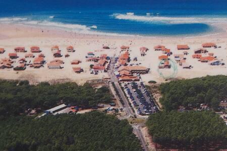 Maison sur la dune landaise, entre océan  /forêt,