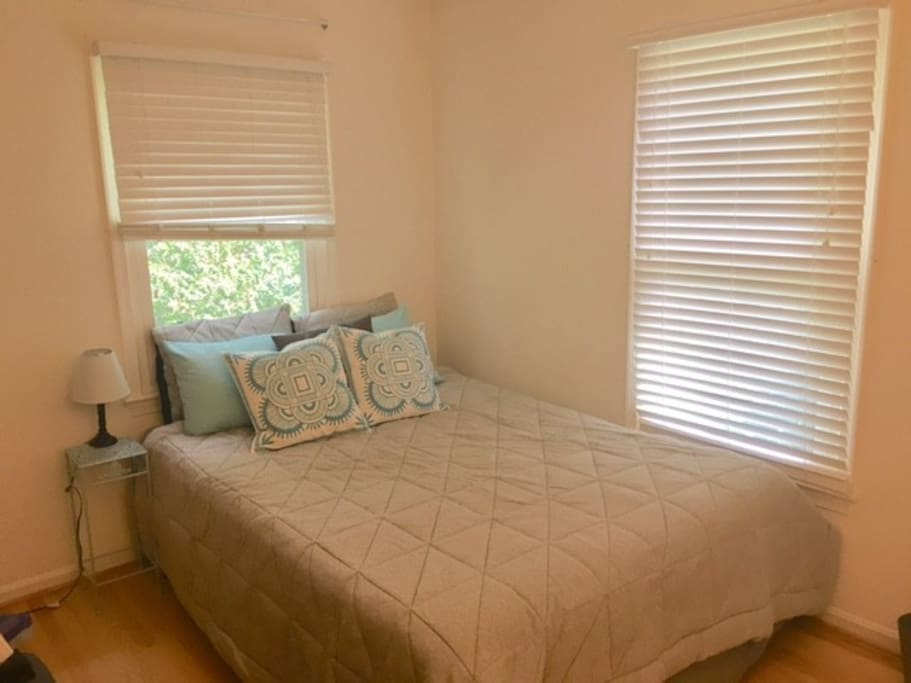 This is the bedroom for rent in this ad. It has a queen size bed and walk-in closet.