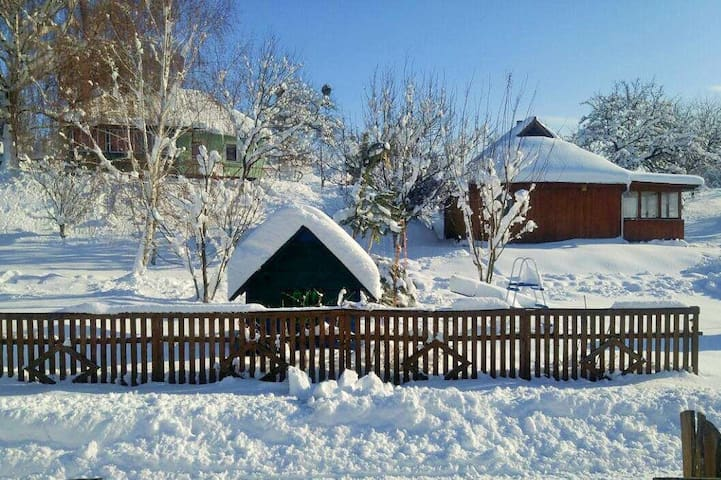 Аренда дома в селе, с камином и баней на дровах.