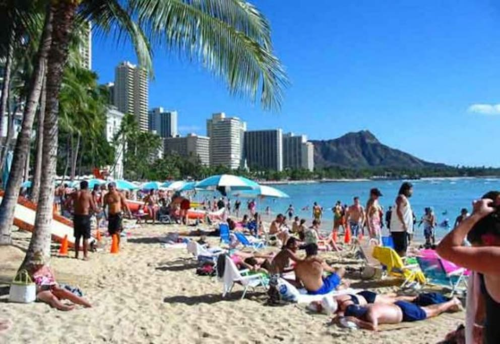 Head down to Waikiki and enjoy the sun.