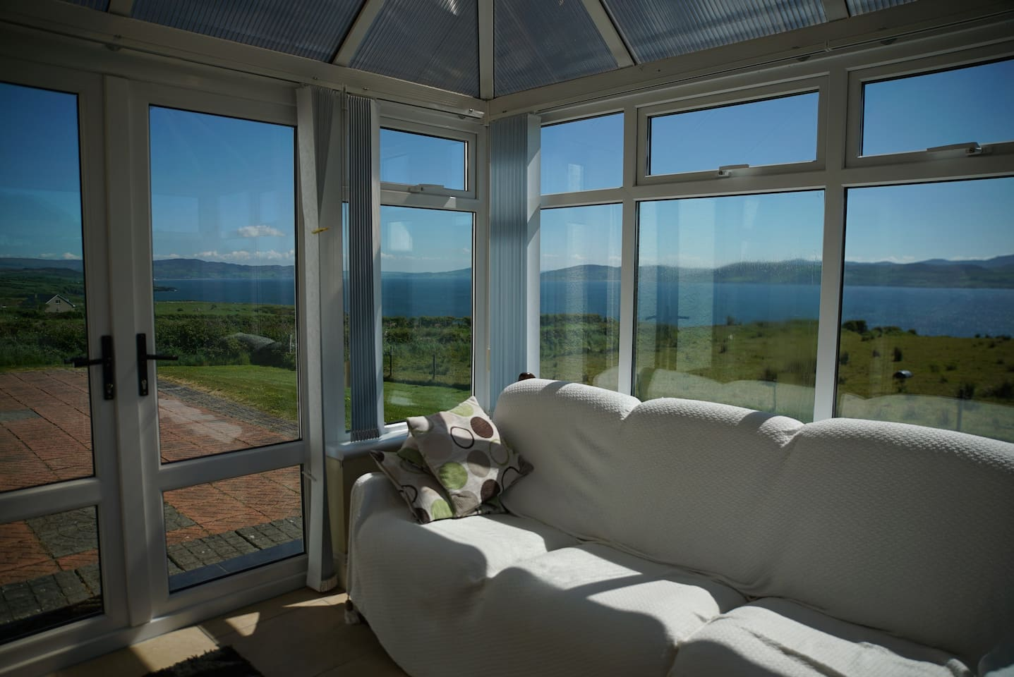 Conservatory overlooking Lough Swilly