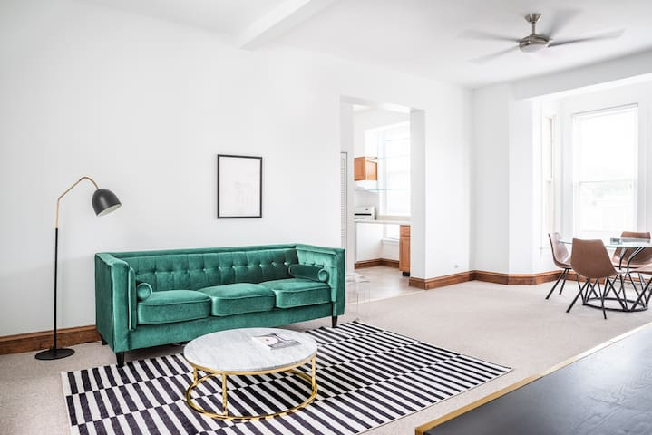 A Chic & Sunny Apt - Minutes to DePaul & Downtown