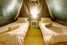 Inside Garden Tent