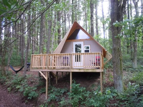 The Treehouse Glamping Cabin at Dragonfly Lake